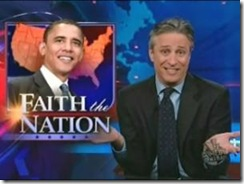 The Daily show mocks the bow dust-up
