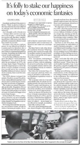 Edmonton Journal - 1 Oct 2011 - Fantasy Capitalism(sm)
