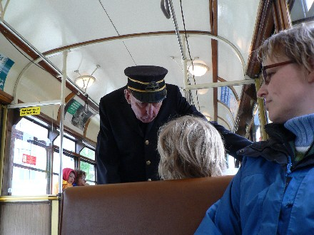 conductor listens