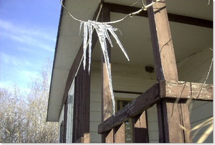 Icicles at dad's cabin