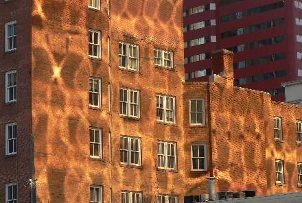 Light on brick