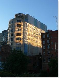 Light on ckua building