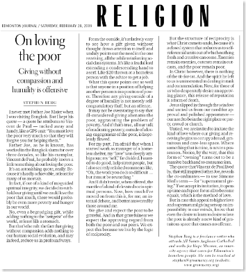 On loving the poor Feb 28, 2009