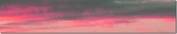pink-peach clouds